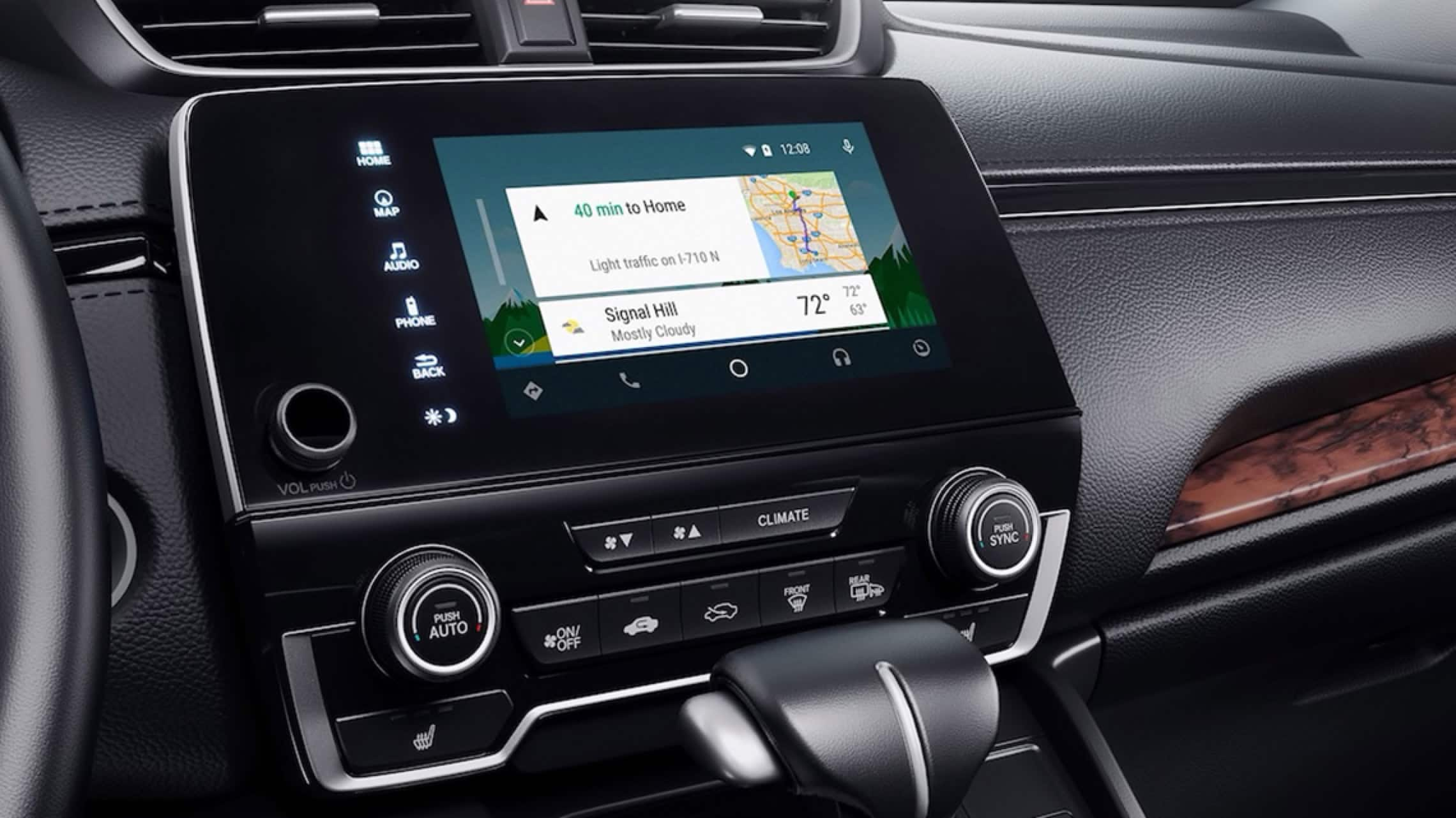 Display Audio touch-screen with Android Auto™ integration menu in the 2019 Honda CR-V.