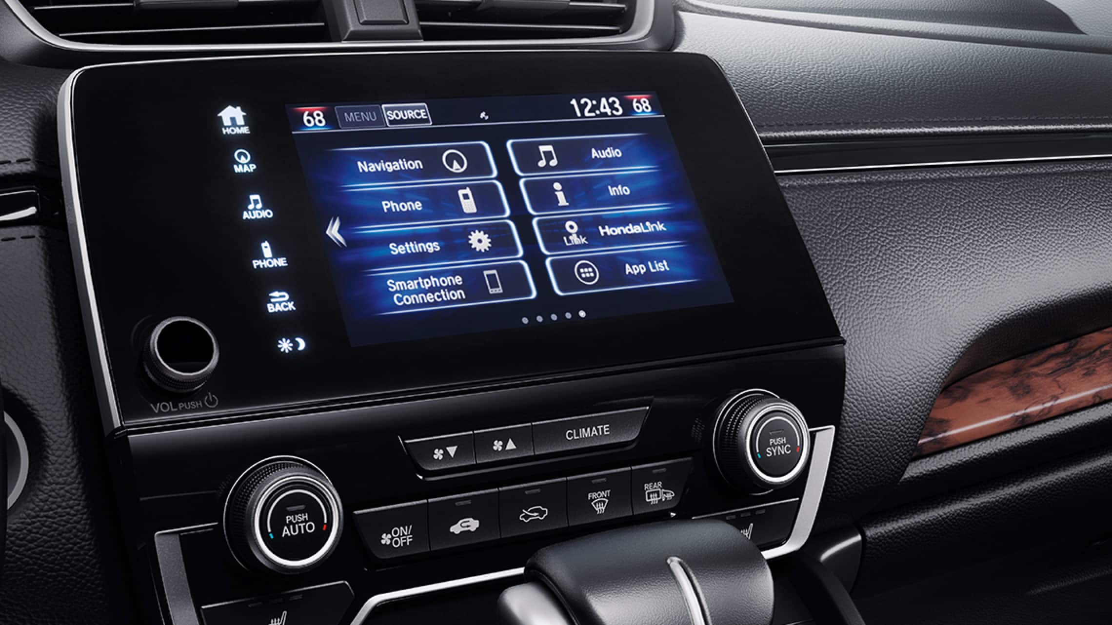 7-inch Display Audio touch-screen in the 2019 Honda CR-V.