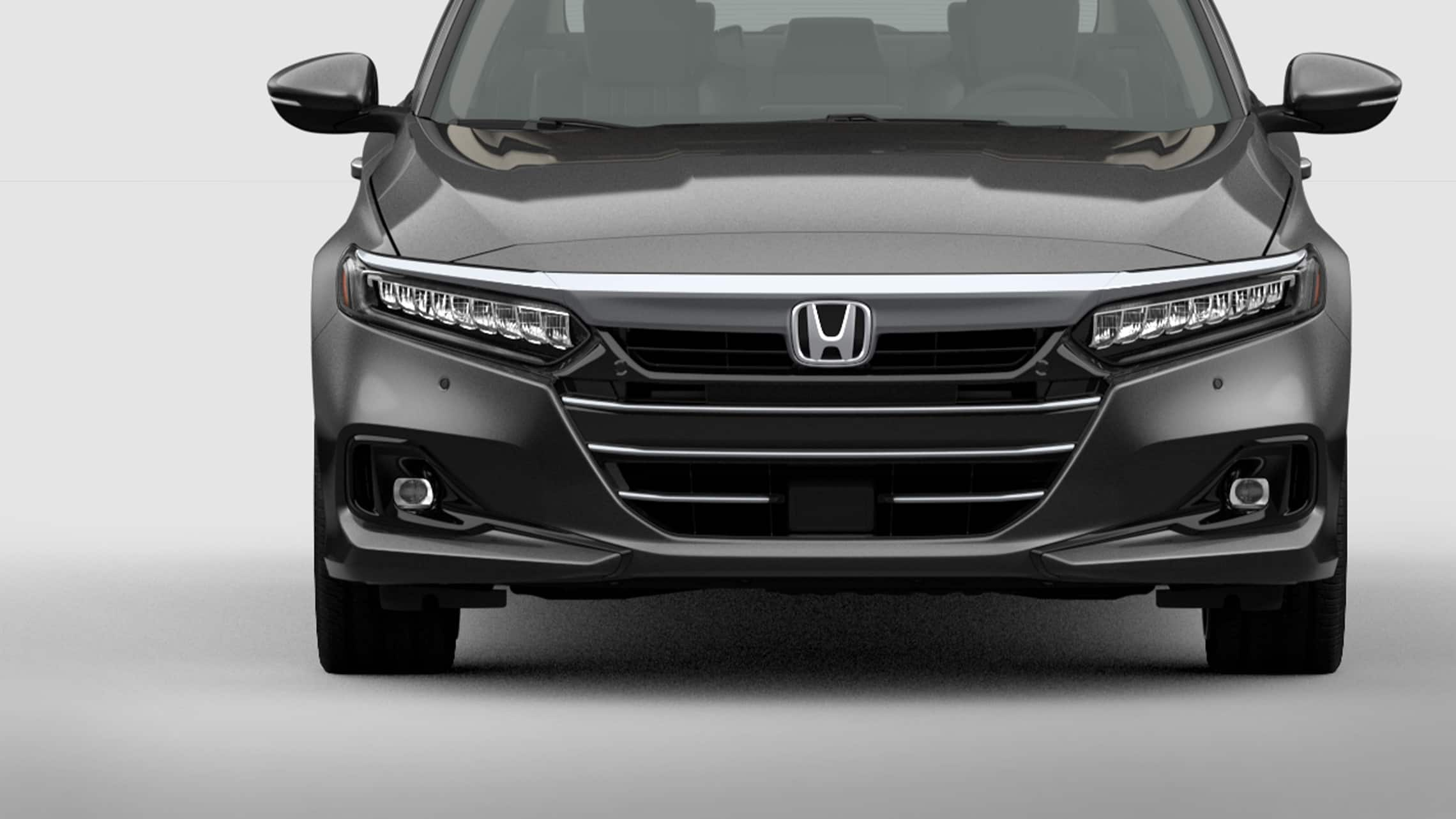 LED low-beam headlights detail on the 2021 Honda Accord Touring 2.0T in Modern Steel Metallic.