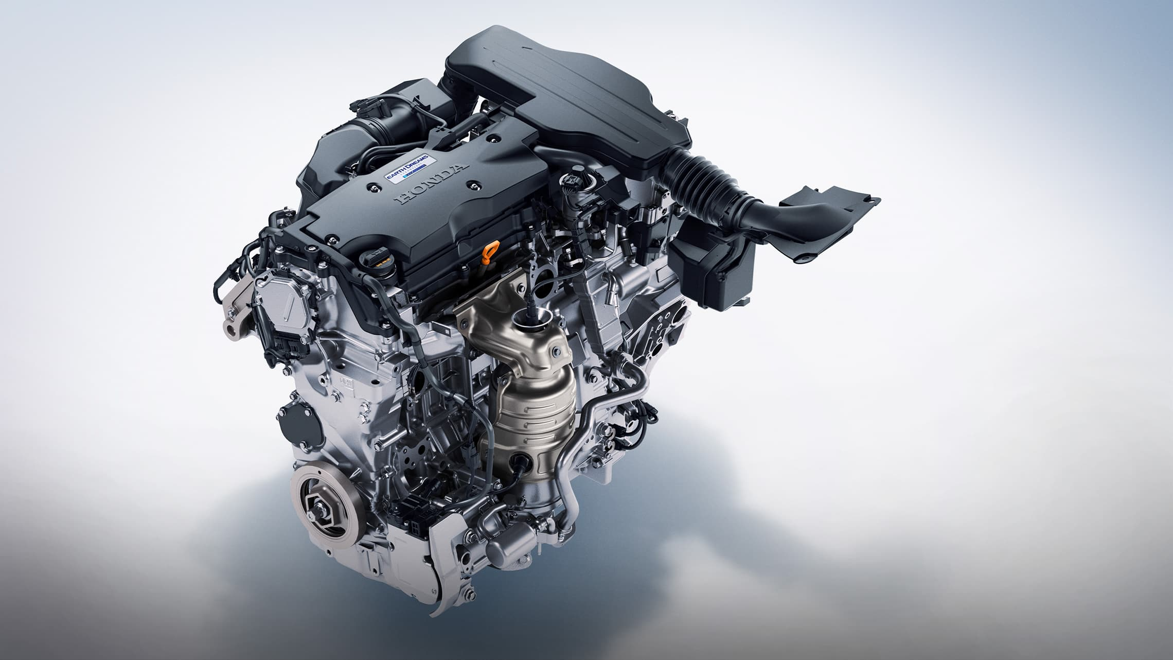Hybrid engine detail in the 2021 Honda Accord Hybrid.