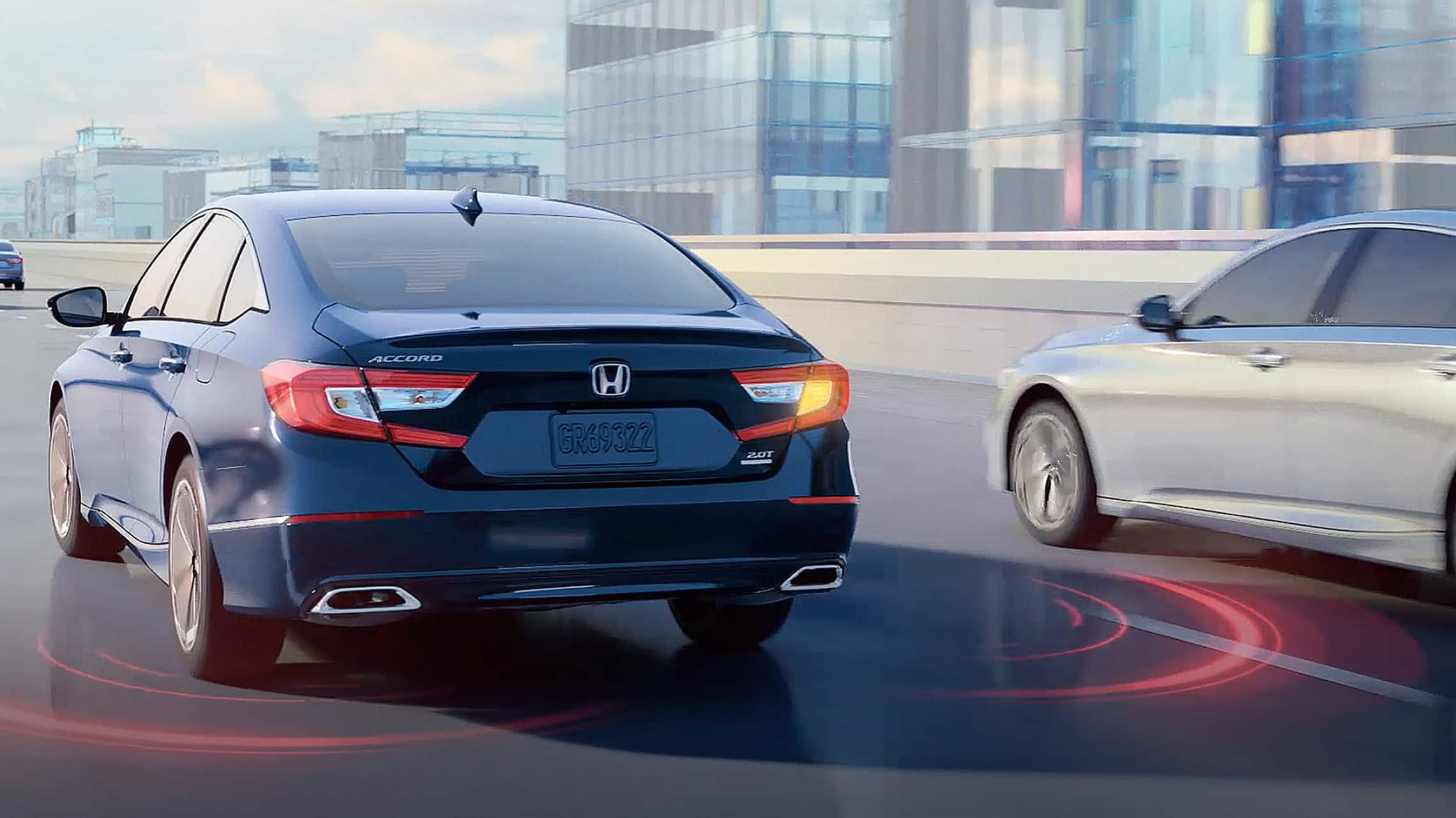 2021 Honda Accord demonstrating the blind spot information system feature.
