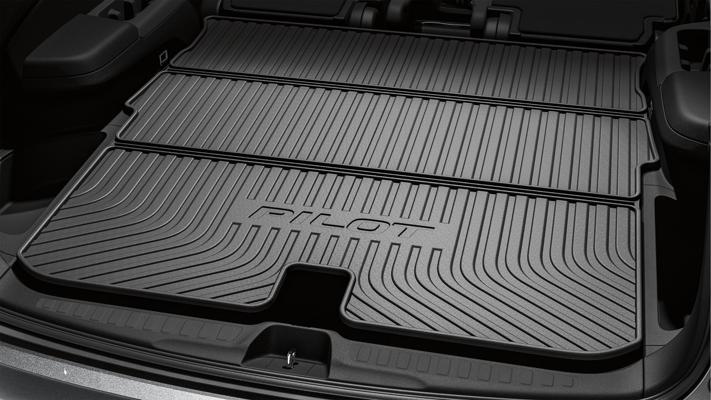 Folding cargo tray detail on 2021 Honda Pilot.